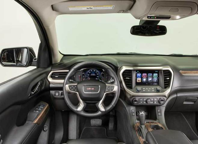 Redesigned 2017 GMC Acadia Goes on a Diet   Consumer Reports 2017 GMC Acadia interior