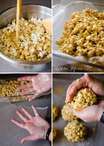 Caramel Popcorn Balls | Ashlee Marie