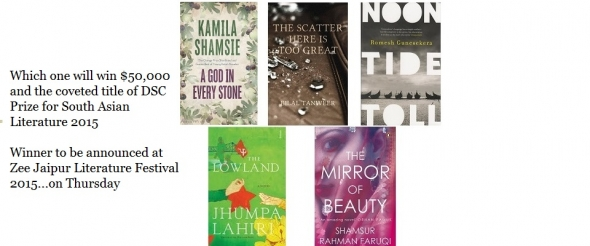 Reviews of books in running DSC Prize for South Asian Literature 2015