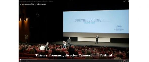 Cannes 2015 Chauthi Koot premiere and interview director Gurvinder Singh (video)