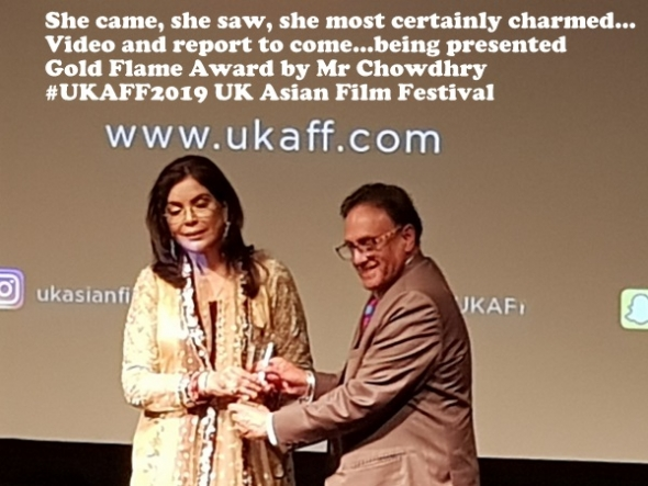 Bollywood icon Zeenat Aman sparkles at Opening Gala of UK Asian Film Festival… (more to follow)