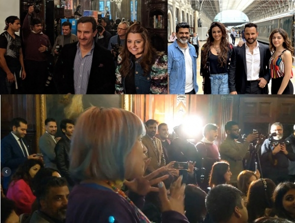 Iconic actor Saif Ali Khan compares debutante Alaya Furniturewala to star Shah Rukh Khan and defends entertainer film 'Jawaani Jaaneman' when acv put him on the spot in London…