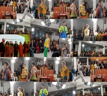 London Fashion Week 2020 India Day: Sari style and young Indian designers in a High Commission first… (short videos as well)