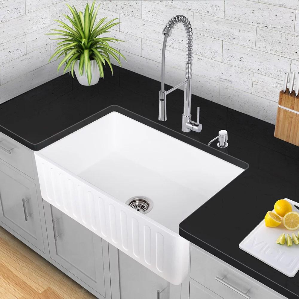 VGRACS stone kitchen sink Vigo Industries Kitchen Sink Collection VGRACS Design Ideas