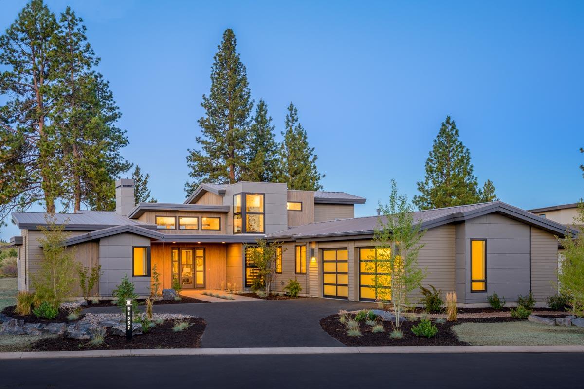 Light-Filled Mountain Modern House Plan - 54202HU ...