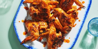 3-Ingredient Buffalo Grilled Chicken Wings recipe | Epicurious.com