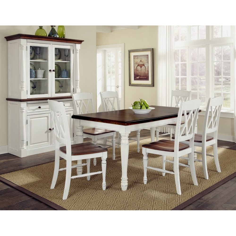 monarch rectangular dining table and six double back chairs small white kitchen table Monarch Rectangular Dining Table and Six Double X back Chairs Homestyles
