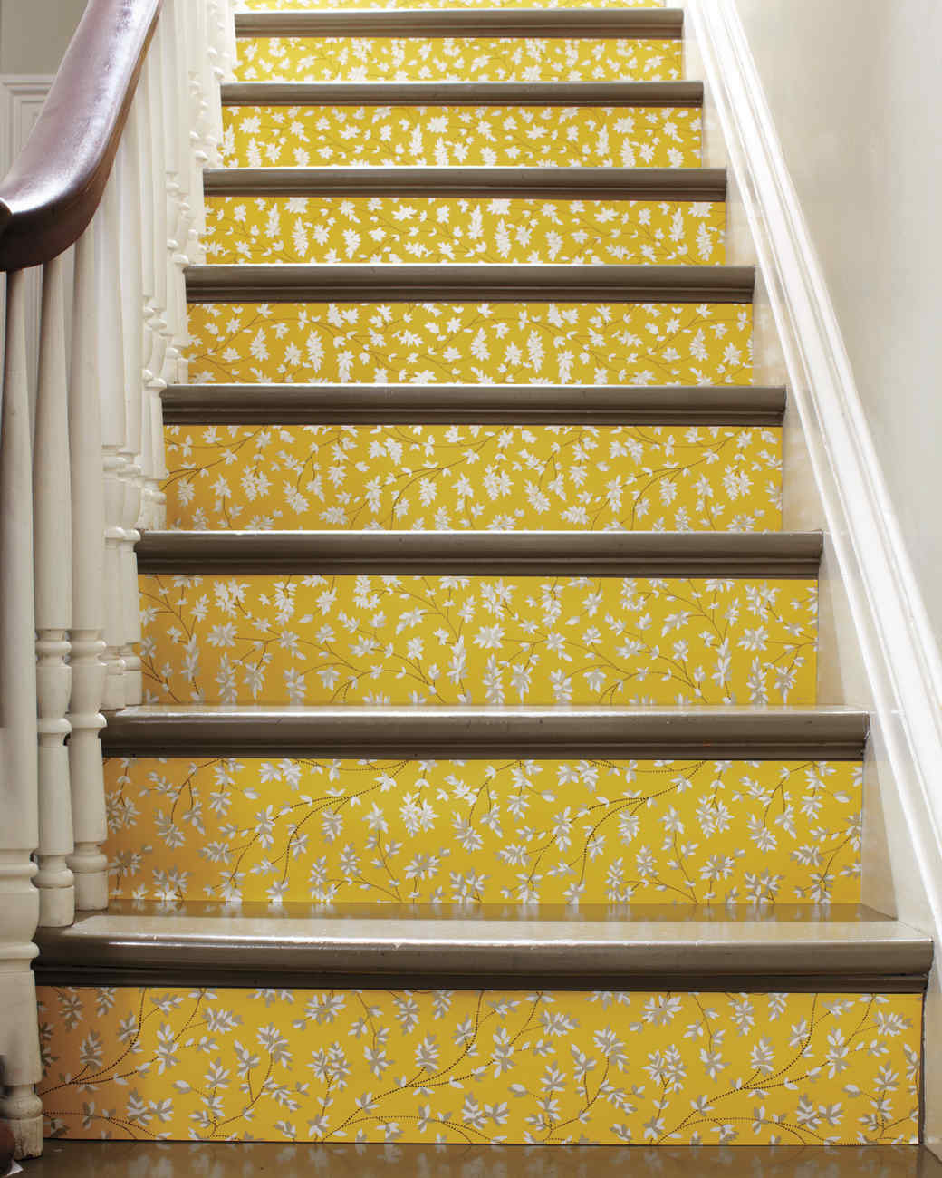 Wallpapered Stairs | Martha Stewart