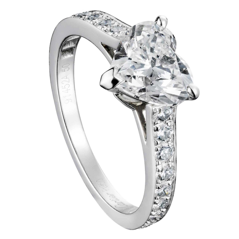 emerald cut diamond engagement rings elegant wedding rings Heart Shaped Engagement Rings