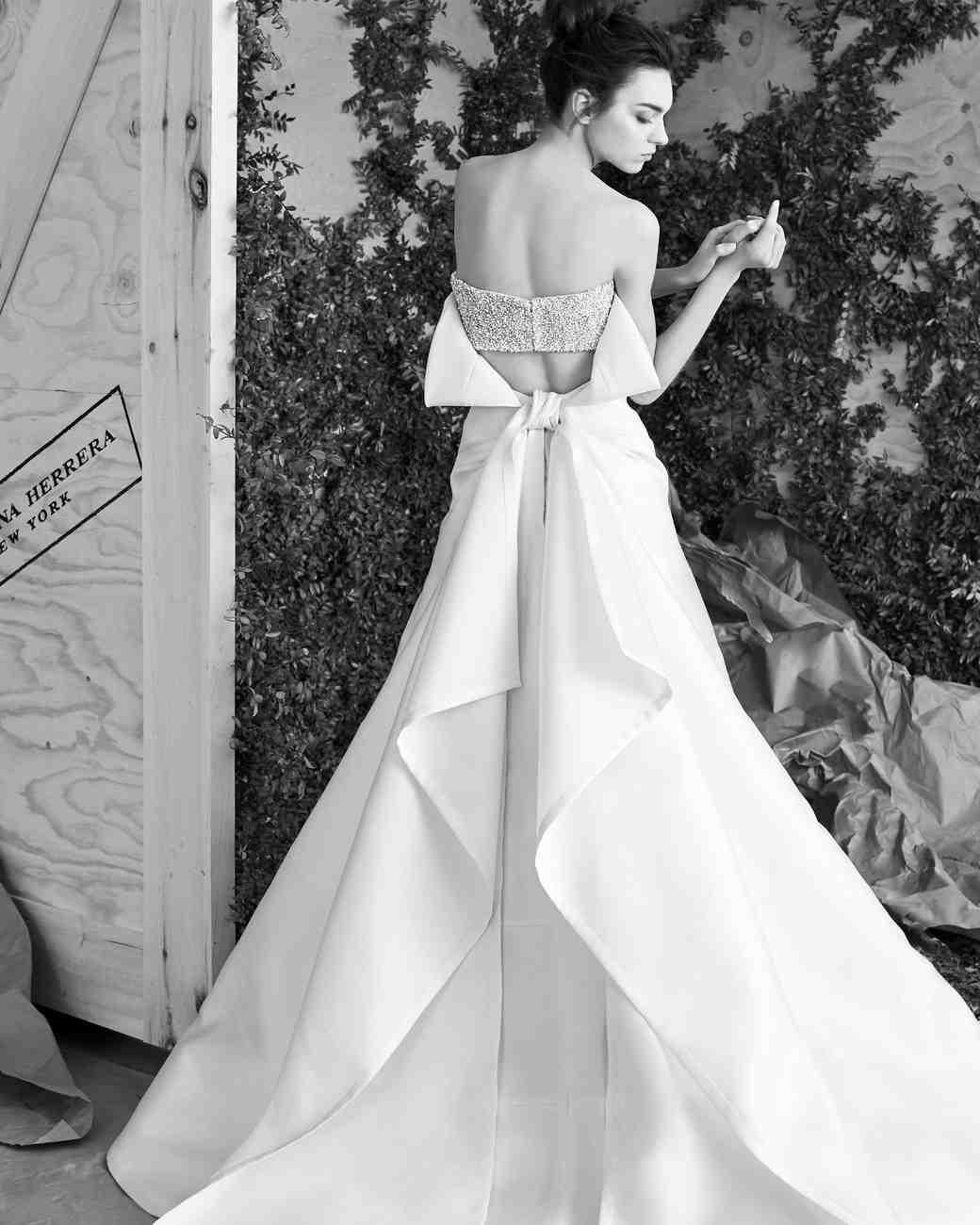60 Wedding Dresses with Bows   Martha Stewart Weddings
