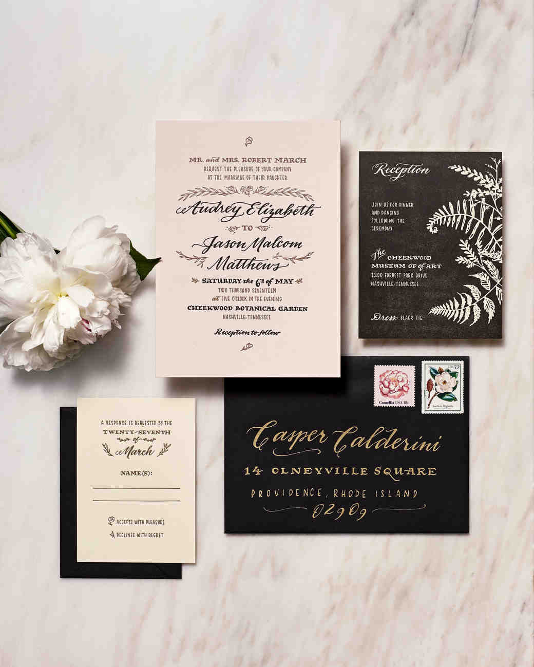 winter wedding invitations photo wedding invitations Get More Ideas for Decorating Your Wedding with Calligraphy