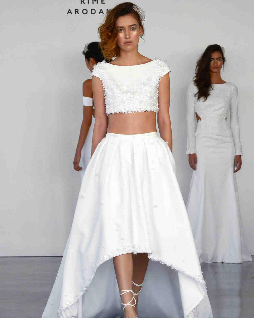 two piece wedding dresses two piece wedding dress Rime Arodaky Two Piece Wedding Dress
