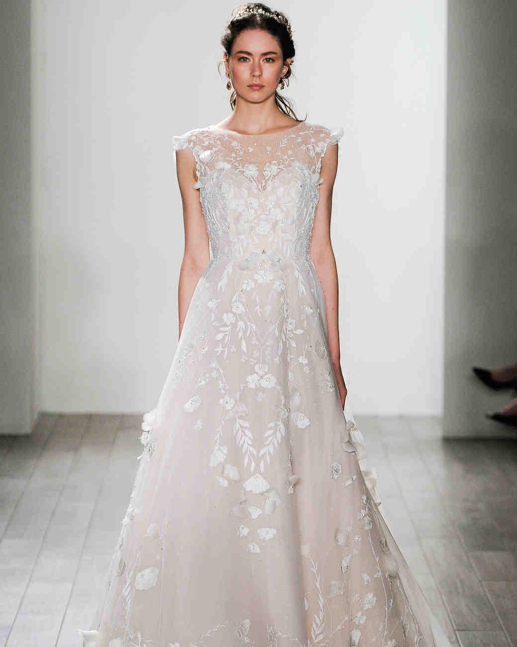 floral wedding gowns beige wedding dresses Alvina Valenta Fall Wedding Dress Collection
