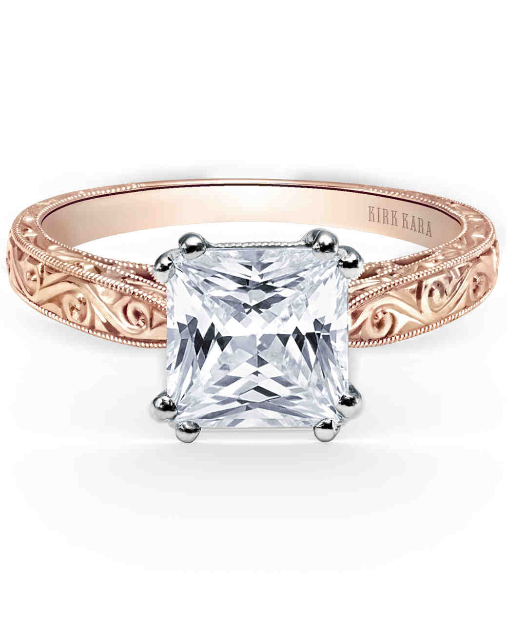 womens wedding band 10k rose gold 2mm rose gold wedding rings Hover to zoom