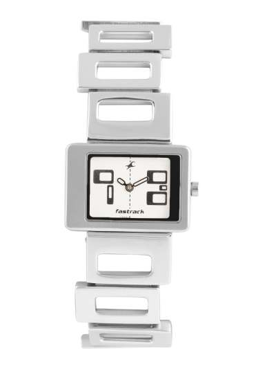 Buy Fastrack Women Silver Toned Dial Watch NA2404sm01 ...