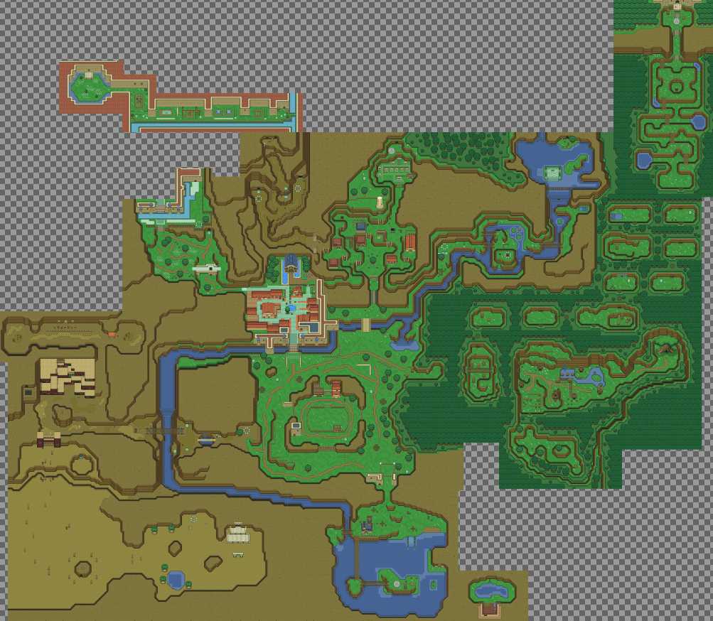 Zelda  Ocarina of Time  world recreated in top down 2D   The Verge Mapproject