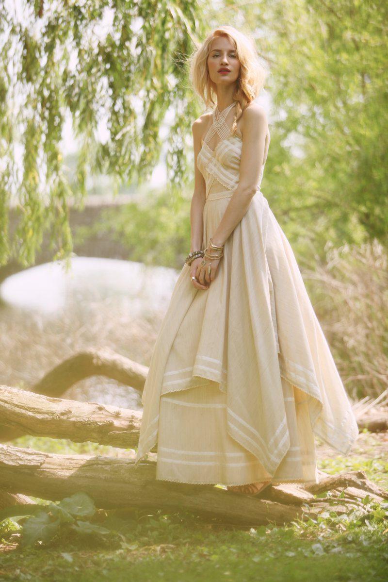 the bohemian bridefree people spring free wedding dress