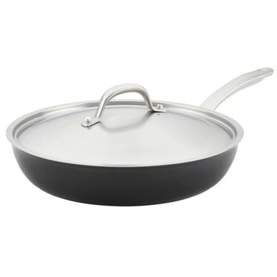 Circulon® Ultimum™ Forged Aluminum Nonstick 12-Inch Covered Deep Skillet in Black | Bed Bath ...