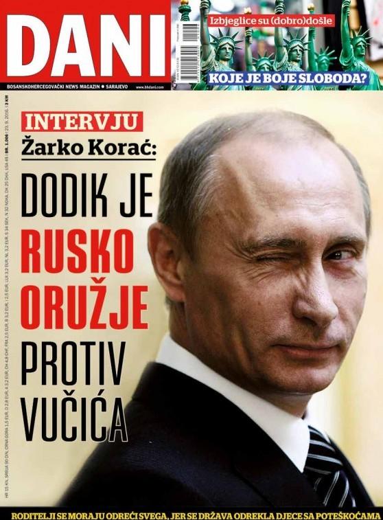 Žarko Korač za sarajevski magazin Dani: Dodik Moskvi služi kao upozorenje Vučiću!