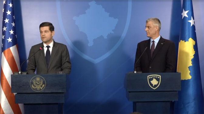 Kosovo: Konferencija za medije Hašima Tačija i Vesa Mičela