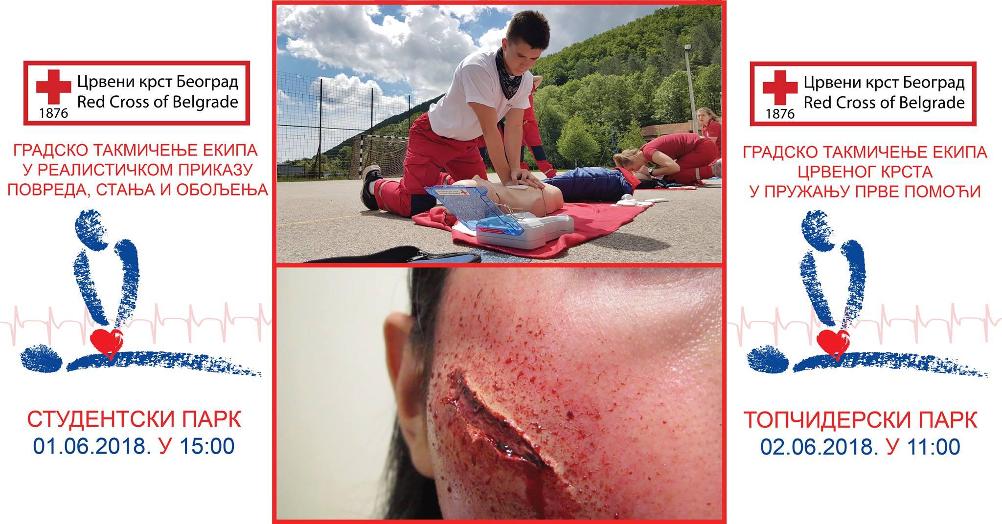 U Topčiderskom parku takmičenje Crvenog krsta u pružanju prve pomoći