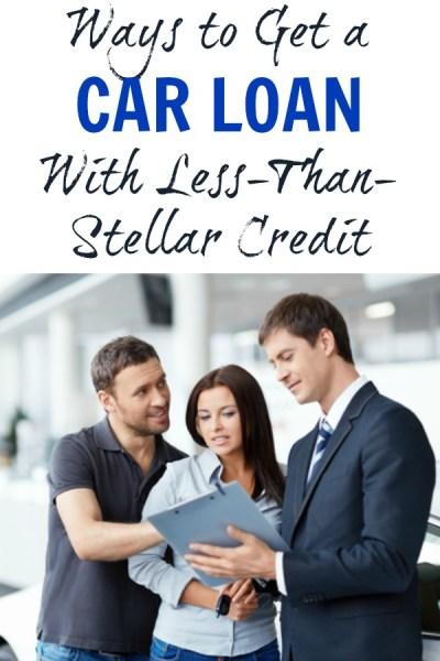 4 Ways to Get a Car Loan With Less-Than-Stellar Credit - BargainBriana