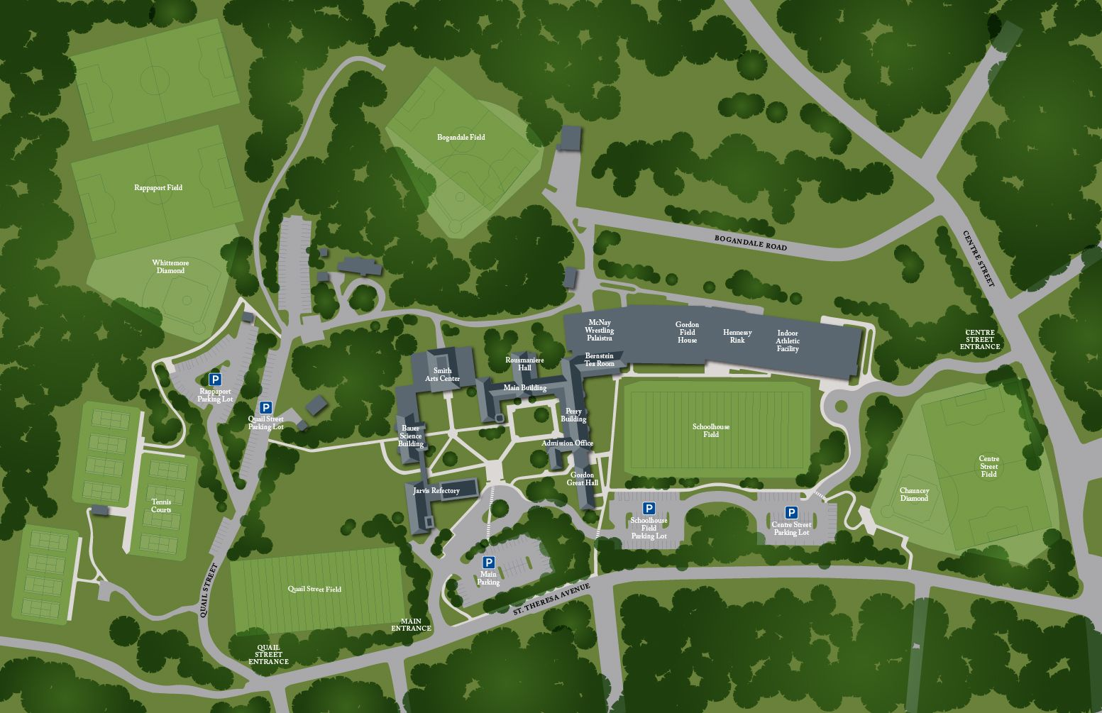 Map of Athletic Fields