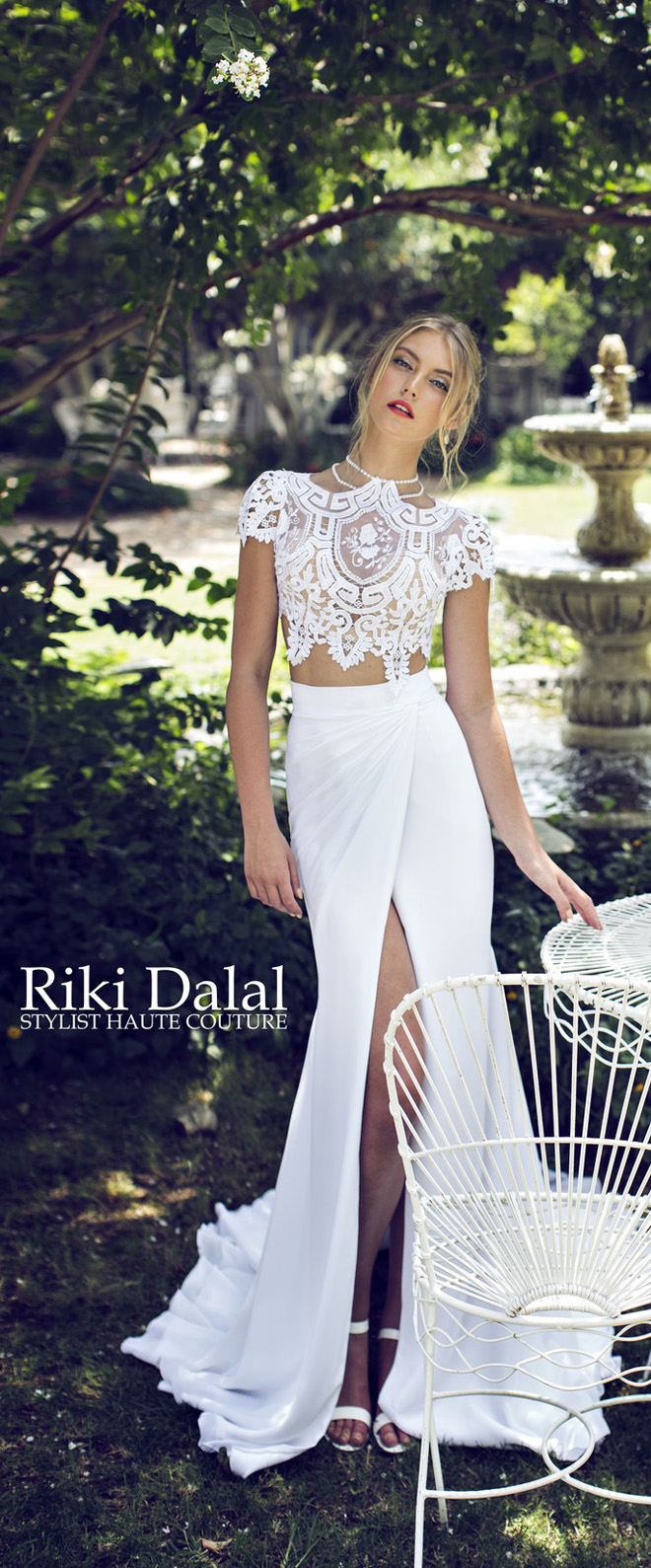 bridal trends two piece wedding dresses two piece wedding dress Riki Dalal Provence Collection