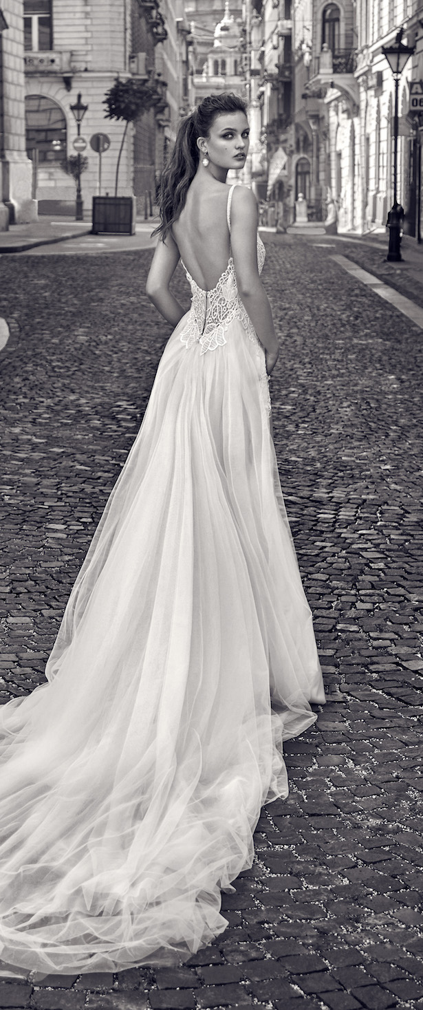 galia lahav wedding dresses bridal fashion week spring galia lahav wedding dresses Galia Lahav sheer ball gown wedding dress with plunging illusion neckline and pockets from Spring