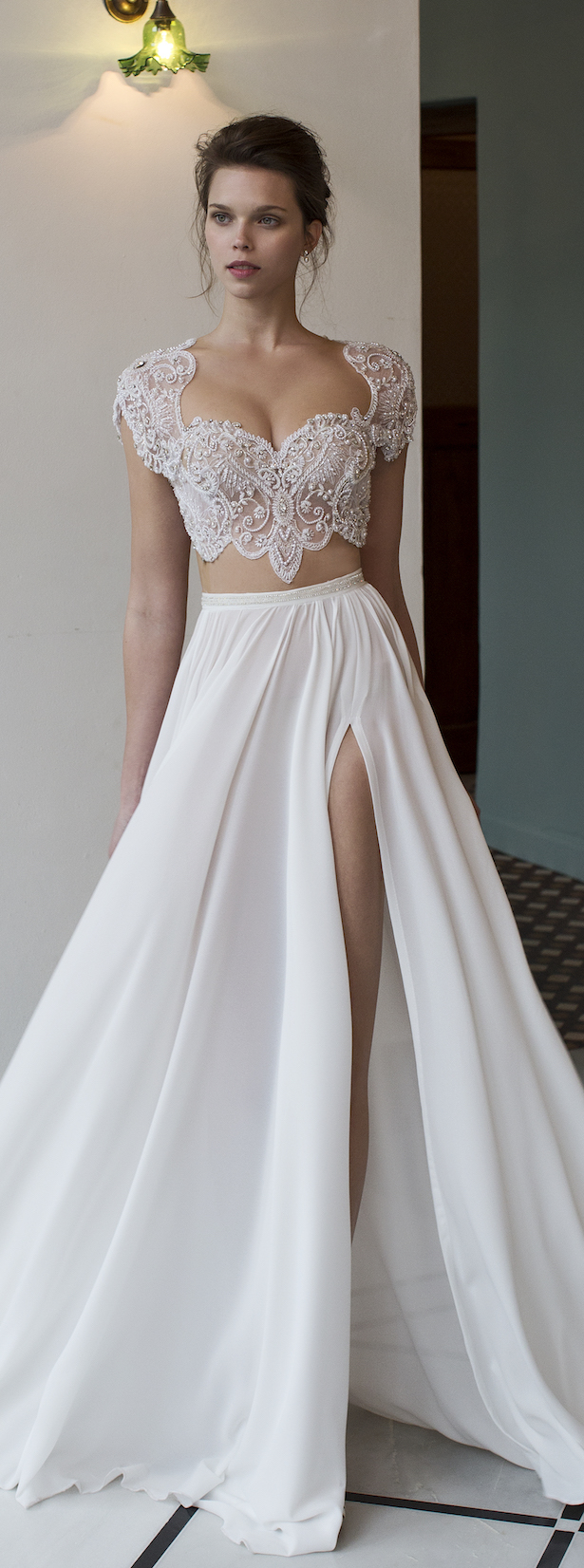 bridal trends two piece wedding dresses two piece wedding dress Bridal Trends Two Piece Wedding Dress Riki Dalal Verona Collection