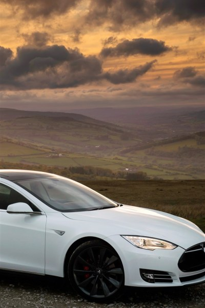Tesla Model S white car side view 1242x2688 iPhone XS Max wallpaper, background, picture, image