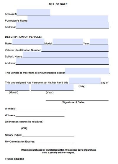 Free Madison County, Alabama Bill of Sale Form   PDF   Word (.doc)
