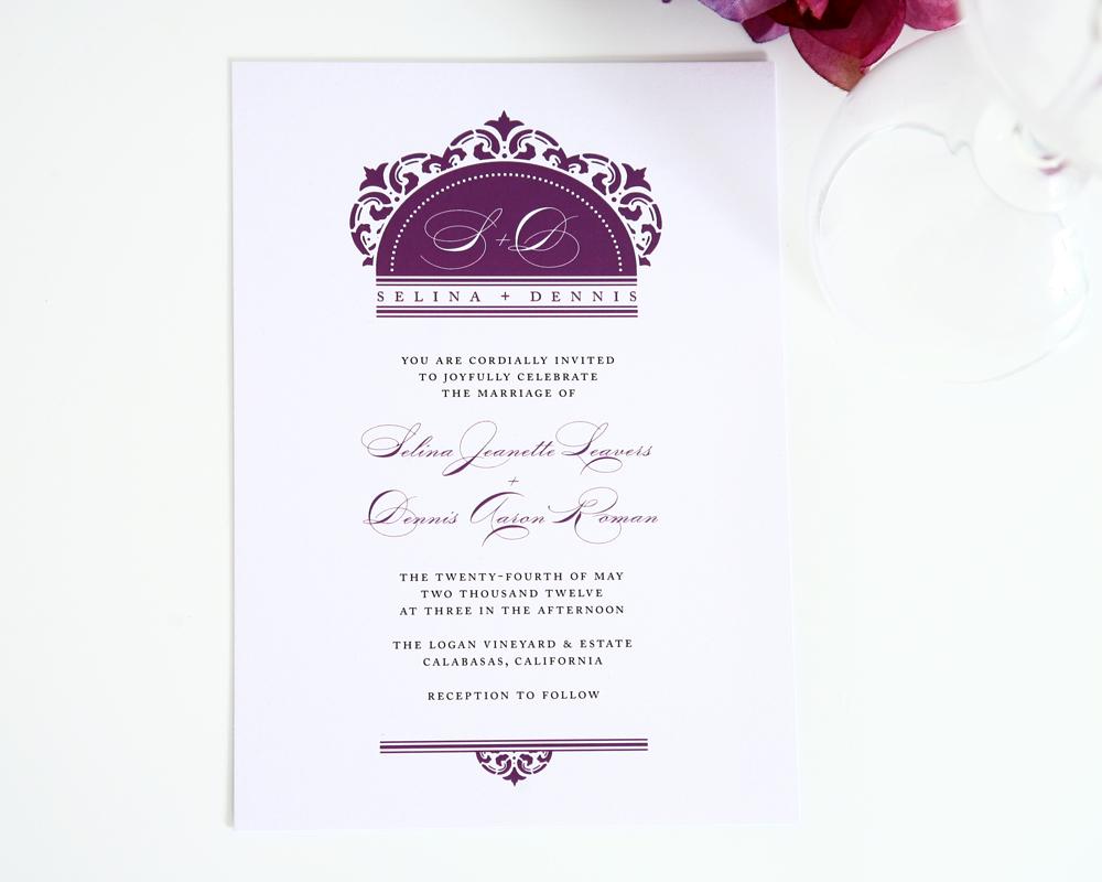 date &page 1 damask wedding invitations Damask Wedding Invitations3