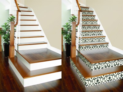 DIY Project: Wallpaper on Stair Risers! – Brewster Home
