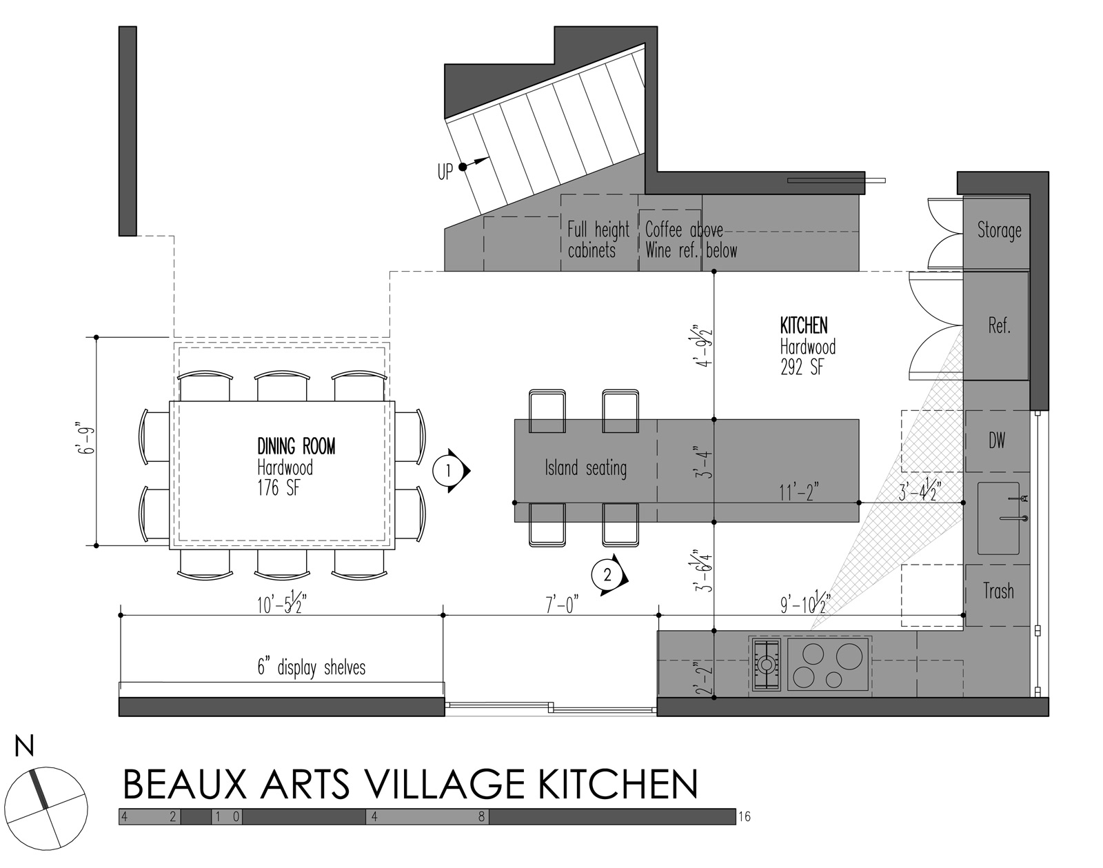 5 modern kitchen designs principles kitchen cabinet sizes BUILD LLC Beaux Arts Village Kitchen plan