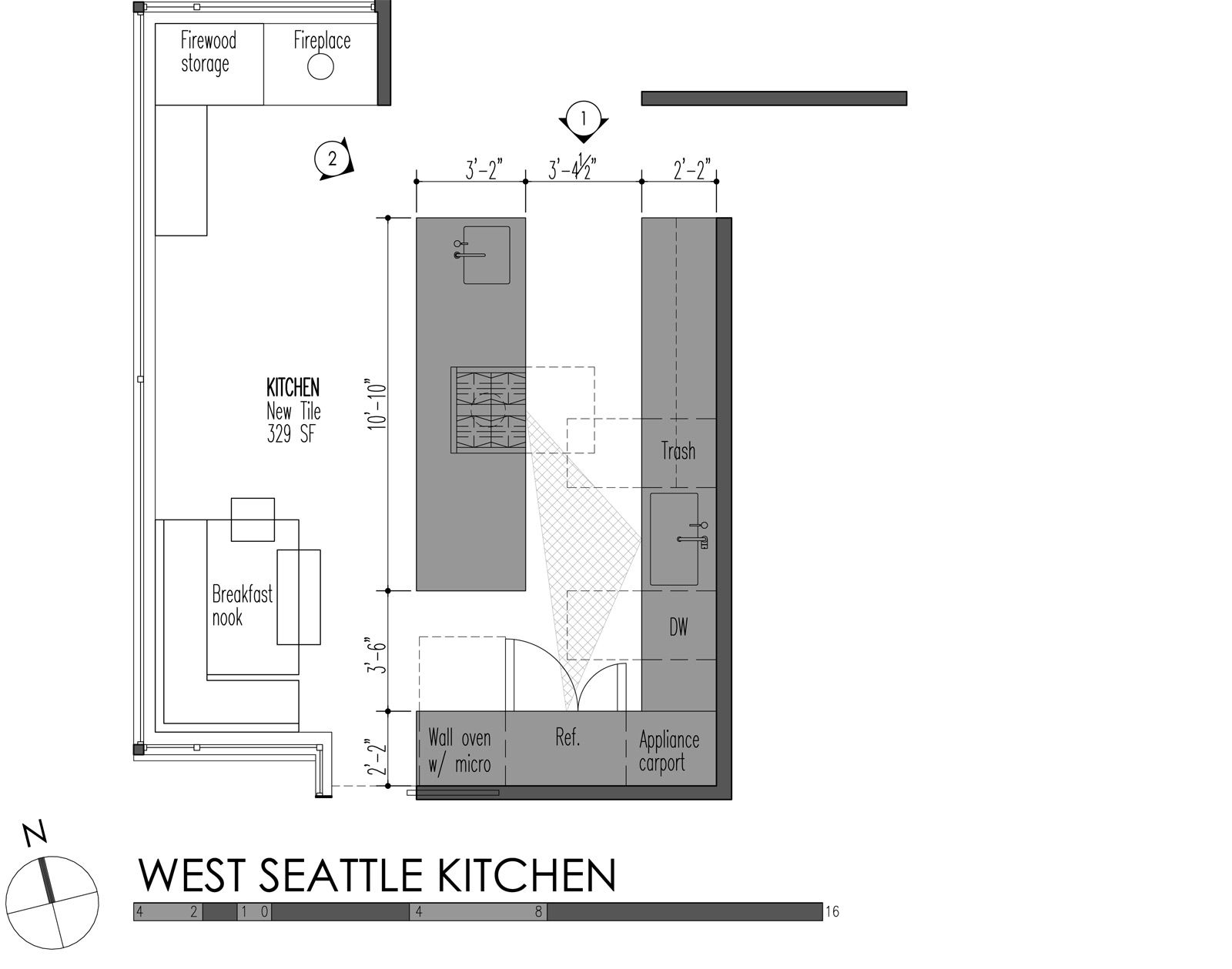 5 modern kitchen designs principles standard kitchen cabinet height West Seattle Kitchen plan
