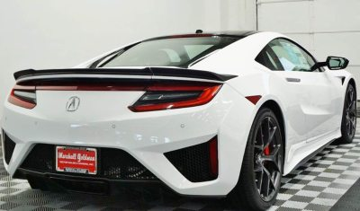 White on Red 2017 Acura NSX For Sale
