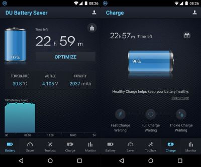 DU Battery Saver increases Android battery life