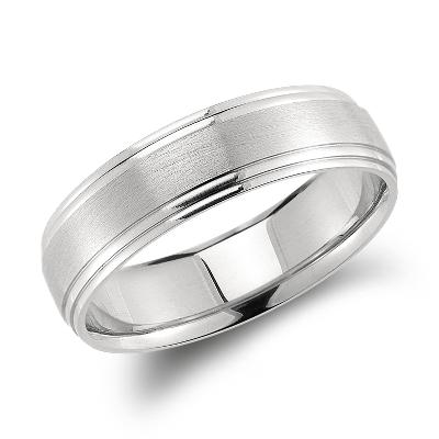 carved wedding ring palladium palladium wedding bands Double Cut Comfort Fit Wedding Ring in Palladium 6mm