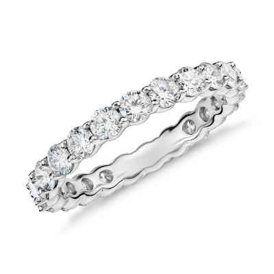 womens wedding rings womens wedding band Classic Diamond Eternity Ring in Platinum 2 ct tw