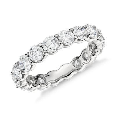 womens wedding rings platinum wedding bands Classic Diamond Eternity Ring in Platinum 3 ct tw
