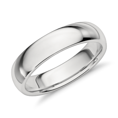 comfort fit platinum wedding ring platinum wedding bands Comfort Fit Wedding Ring in Platinum 5mm