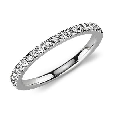 diamond ring white gold women wedding rings Petite Pav Diamond Ring in 18k White Gold 1 3 ct tw