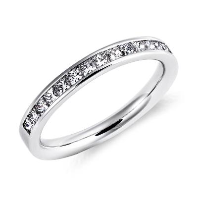 diamond wedding ring platinum princess cut wedding rings Channel Set Princess Cut Diamond Ring in Platinum 1 2 ct