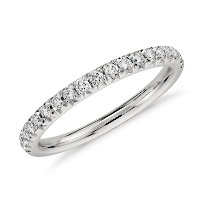 french pave diamond ring platinum platinum wedding bands French Pav Diamond Ring in Platinum 1 4 ct tw