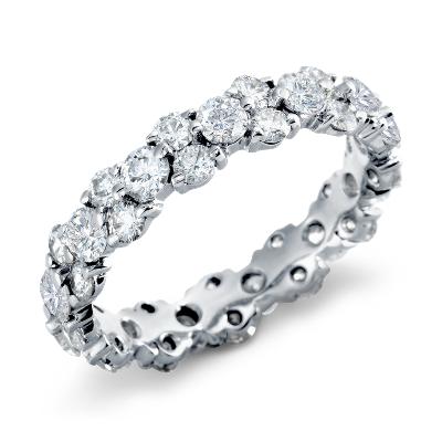 garland diamond eternity ring platinum women wedding band Garland Diamond Eternity Ring in Platinum 2 5 ct tw
