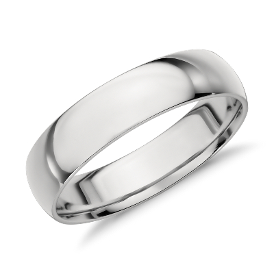 mens wedding rings modern mens wedding bands Mid weight Comfort Fit Wedding Band in Platinum 5mm