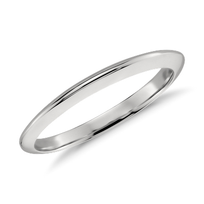knife edge wedding band platinum 2mm wedding band Knife Edge Wedding Band in Platinum