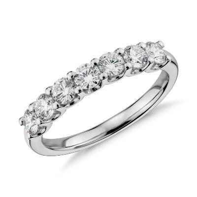 luna seven stone diamond ring platinum wedding ring diamond Luna Seven Stone Diamond Ring in Platinum 1 ct tw