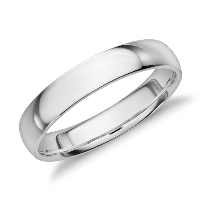platinum wedding ring platinum wedding band Mid weight Comfort Fit Wedding Band in Platinum 4mm